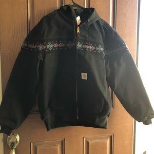 Carhartt Aztec print western cowgirl jacket XL